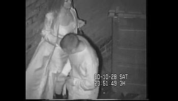 British Slut Caught Shagging On CCTV Behind The Dancing