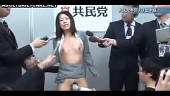 Japanese wife undressed,apologized on stage,humiliated beside her husband 02 of 02-02