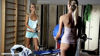 Sally and Cameron from Sapphic Erotica have fun in the dressing room