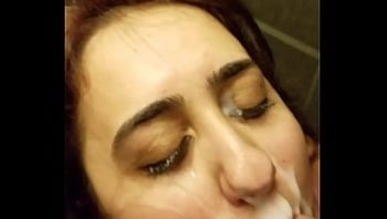 HUGE FACIAL FOR DIRTY SLUT BEFORE HER JOB INTERVIEW