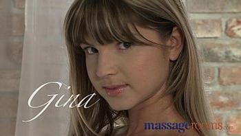 Massage Rooms Young tiny teen has deep intense orgasm