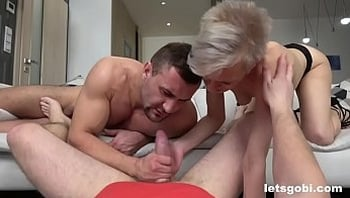 Slutty Granny is Ready for her Bisexual DP Experience