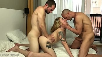 Drunk Tight Young Student Girl was Rough Fucked by Two Friends. Double Pussy Penetration. Bella Mur