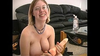 Busty Sara and her toy