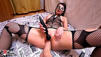 Horny Brunette Hardcore Fisting and Masturbate Pussy Sex Toys