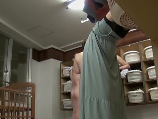 Asian bottom in sexy panty is on changing room cam pks17