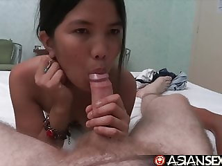 Asian Sex Diary - Two Filipina babes getting white cock