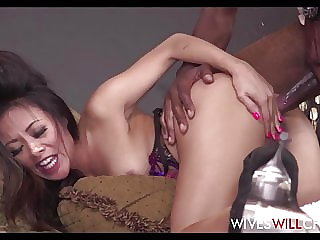 Tiny Asian Cheating Wife Has Sex With Black Photographer