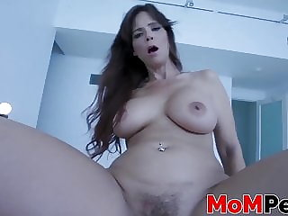Big ass MILF got her tits bouncing while riding a dick