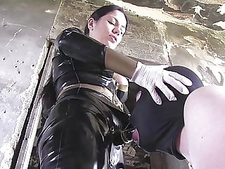New slave with Mistress strapon