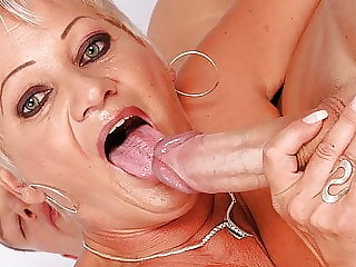 Chubby granny fucked by a young guy