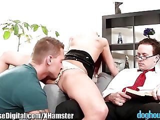 DogHouse Curious Guy Joins with BiSex Couple