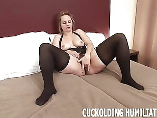 I am going to choke on his big cock in front of you