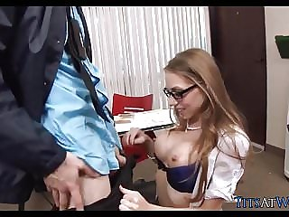 Nice Tits, Stockings and Glasses at the Office