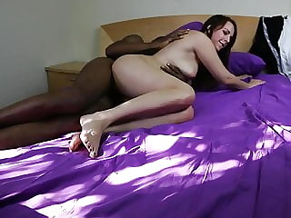 interracial couple fucks on cam