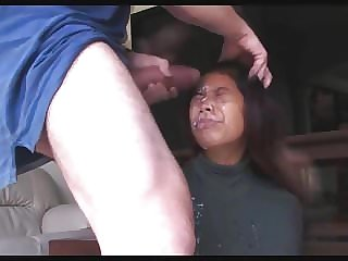 Rough Deepthroat And Face Cum For Slim And Stacked Babe