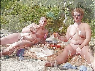 Nudists enjoying  Summer