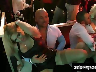 Wet bitches dance and take dicks