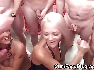 Chantelle Fox and Layla at a cum party