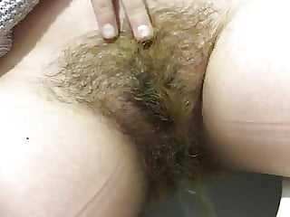 Hairy pissing