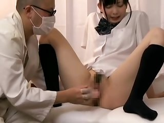 Fake pervert doctor has a hidden camera installed in his cabinet