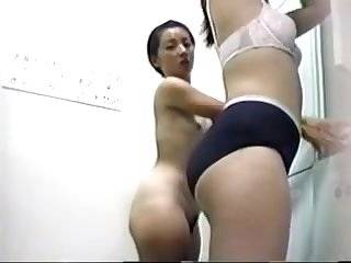Hidden camera watching women dressing up in their locker room