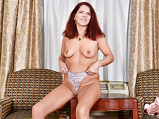 Canadian milf Candy strips off her party dress