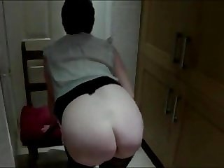 Small titted milf suzy, stripping off in the kitchen.