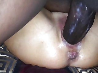 2 Segments of  her Huge Thick BBC, Wet, Creamy,. Squirting.