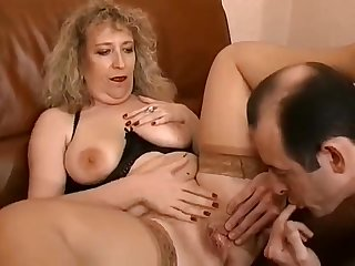 Horny mature vintage French couple casting a porn video