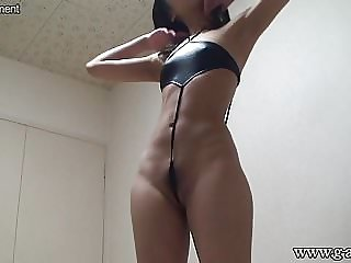 Japanese Teen Changes into G-String