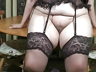 Basque and Stockings Striptease