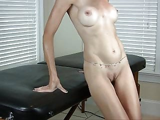 Hot Blonde in Lingerie Sexy Strip Tease