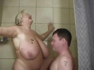 Granny in the Shower Fucking