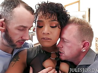 Jules Jordan - Honey Gold Gets Double Teamed