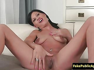 European casting babe cockriding at interview