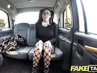 Fake Taxi Spanish beauty with glasses loves taxi cock