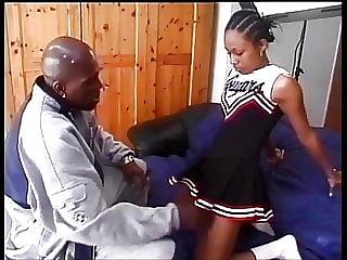 Ebony cheerleader Stephanie