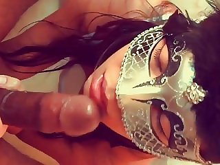 Latina plays with Black Dildo then gets the real thing