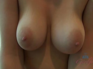 ATKGirlfriends video: Allie James plays with her pussy right in front of you!