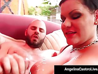 Cuban BBW Angelina Castro Takes A Hungry Cock In Her Pussy!