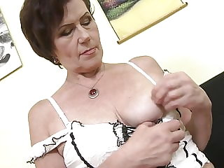 Real grandmother with hairy thirsty vagina