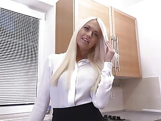 Beautiful mother and housewife with hungry pussy