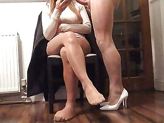 Not interested in my cock in pantyhose .