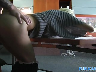 PublicAgent: Office secretary fucked by a huge cock in the toilet