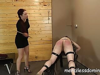 Spanked - Painful mix of caning, paddling and whipping