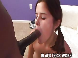 His big black cock is going to stretch my tiny pussy