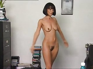 Chick show beauty hairy pussy in casting