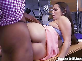 Booty amateur fucked during interracial cast