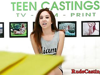 Petite teen hardfucked at casting